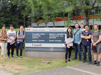 A group of undergraduate students from the University of British Columbia (UBC).