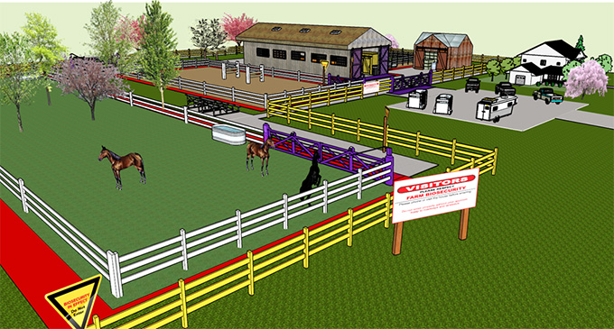 Figure 3: Zoning on a Horse Facility. Description follows.
