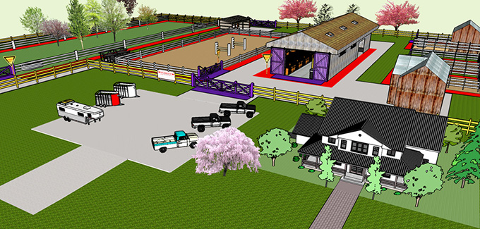Figure 4: Zoning on a Horse Facility. Description follows.