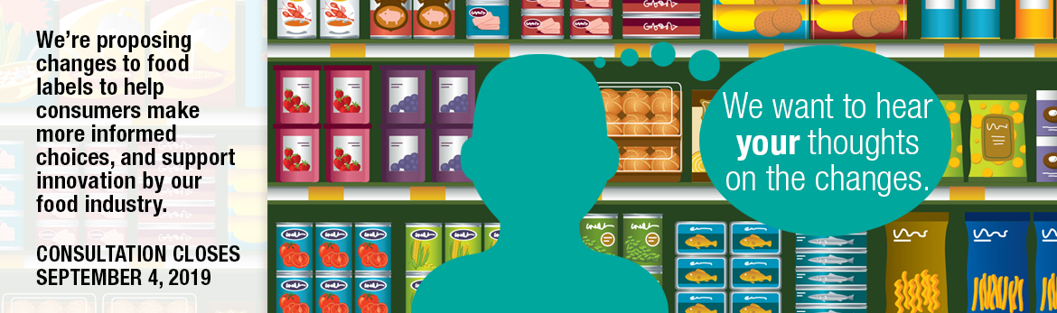 This image shows a person standing in front of food products