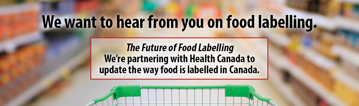 We want to hear from you on food labelling