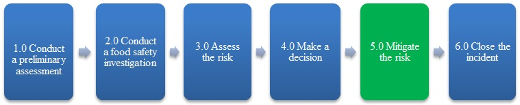 Figure 1 – The fifth step, mitigate the risk, is highlighted. Description follows.