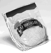 tortillas in a package with a cut line