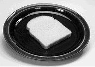 Image of a slice of bread on a plate.