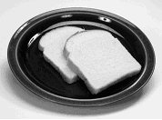 Image of two slices of bread on a plate.
