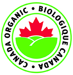this is an example of the permitted presentation of the Canada organic logo in colour