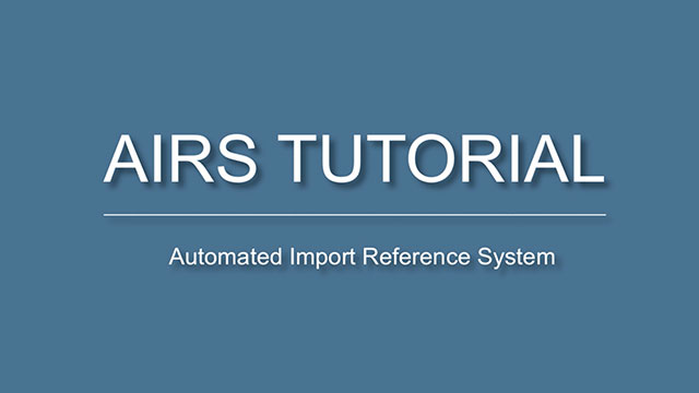 Automated Import Reference System (AIRS) - Canadian Food