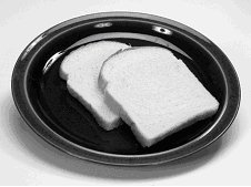 Dual Format - different amounts of food may be used to provide information for two slices of bread