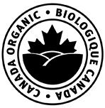 this is an example of the permitted presentation of the Canada organic logo in black and white