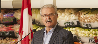 Agriculture Minister, Gerry Ritz announced the Safe Food for Canadians Action Plan, which aims to further improve Canada's food safety system.