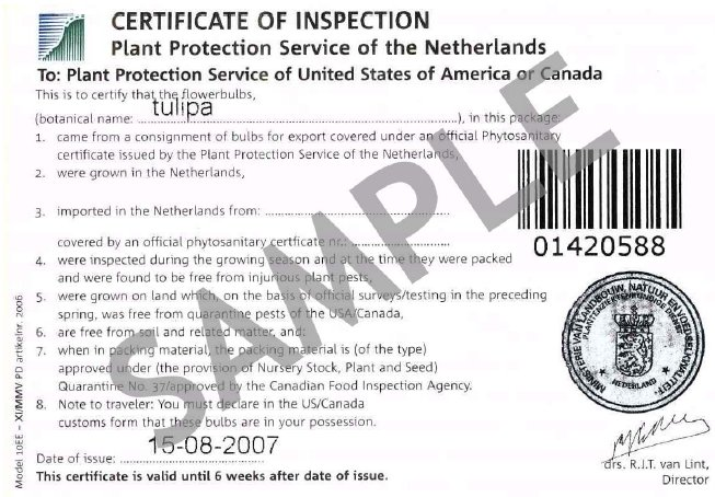 Image - Certificate of Inspection Sticker. Description follows.
