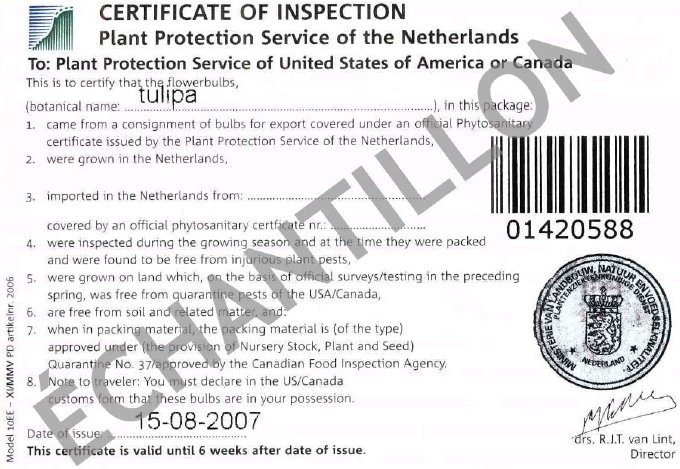 Image - autocollant certificat d'inspection. Description ci-dessous.