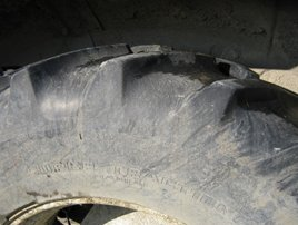 Figure 1. Non-compliant tire