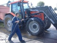 Clean and disinfect all machinery, vehicles, and other equipment before going between fields.