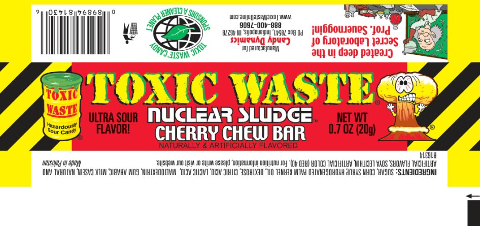 Toxic Waste Nuclear Sludge Cherry Chew Bar