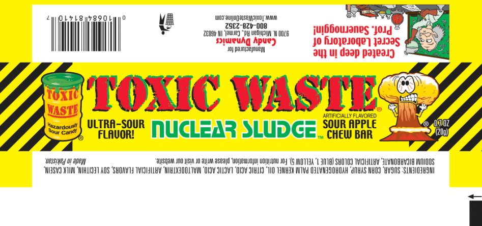 Toxic Waste Nuclear Sludge Sour Apple Chew Bar