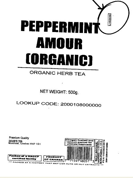Peppermint Amour (organic) - Code : L102336