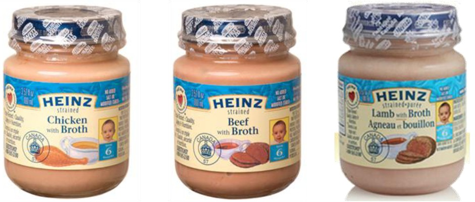 Heinz Strained Meat baby food products