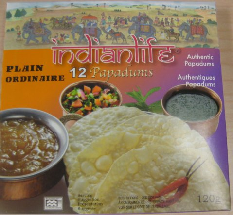 Indianlife brand Plain Papadums