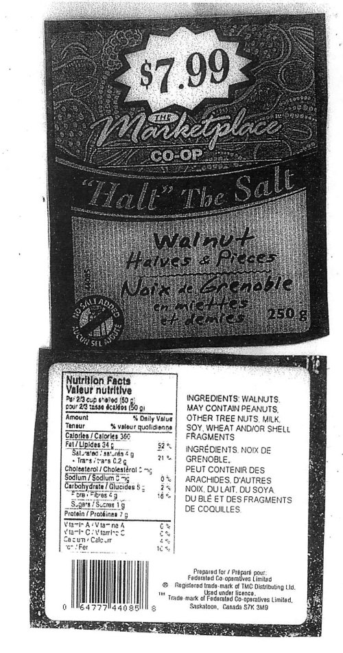 Marketplace Co-op Halt The Salt Walnut Halves and Piece