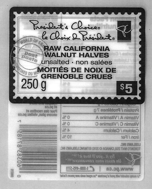 President's Choice Raw California Walnut Halves Unsalted