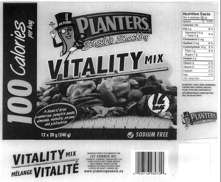 Planters Vitality Mix 100 Calories per bag