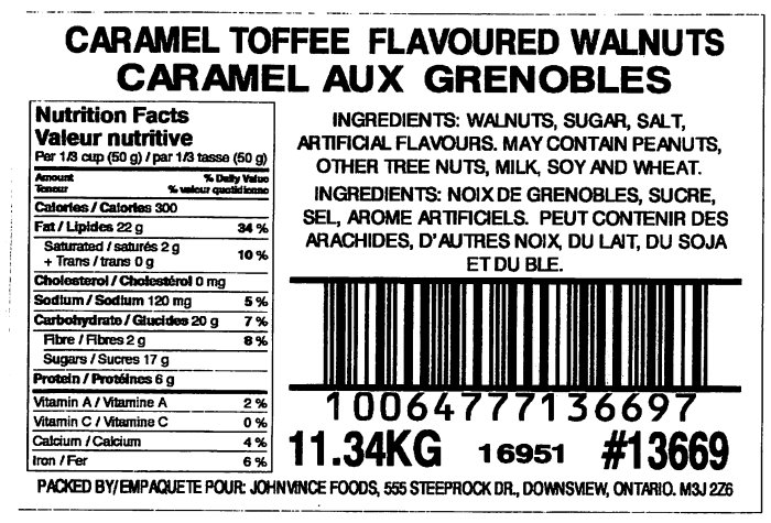 Caramel Toffee Flavoured Walnuts