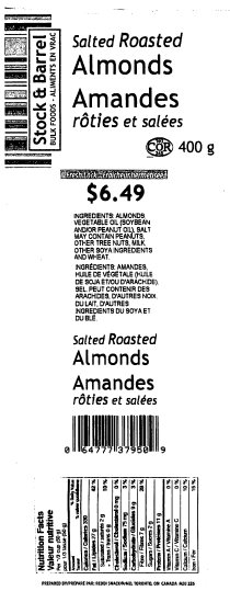 Stock & Barrel Salted Roasted Almonds