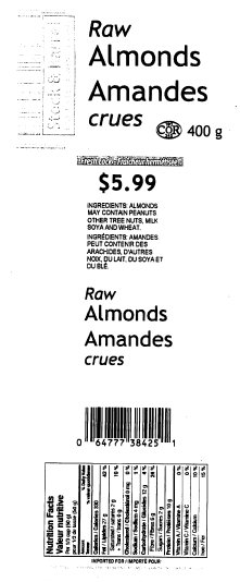 Stock & Barrel Raw Almonds