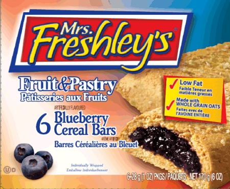 Blueberry Fruit & Pastry Cereal Bars