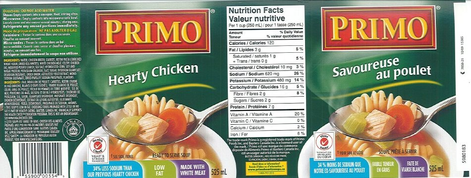 Primo brand Hearty Chicken Soup