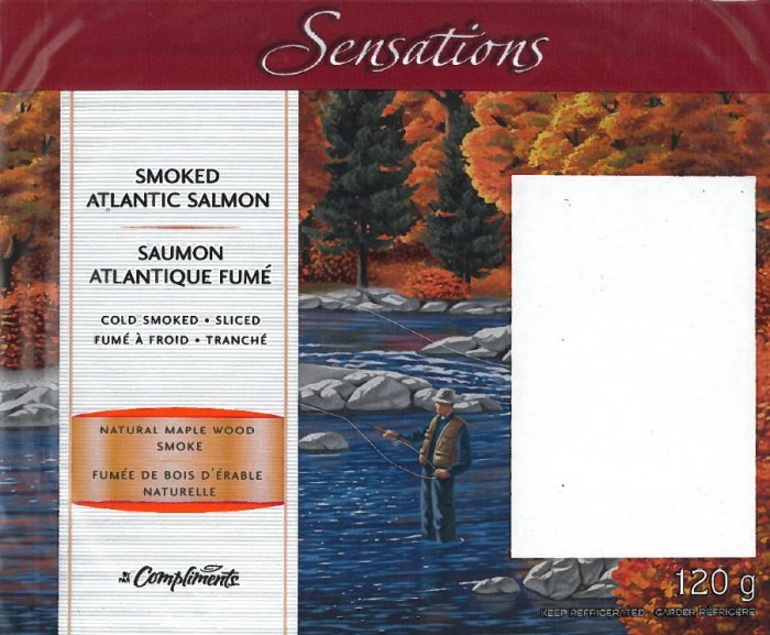 Sensations by Compliments brand Smoked Atlantic Salmon (front view)