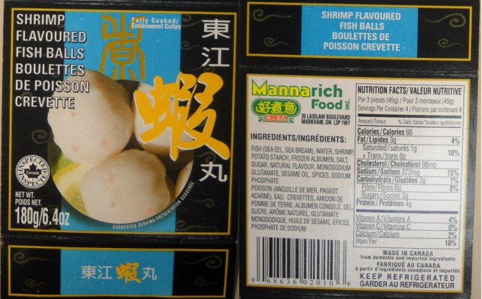 Shrimp Flavoured Fish Balls (180g) - Mannarich Food Incorporated