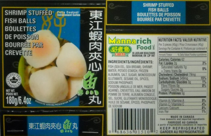 Shrimp Stuffed Fish Balls (180g) - Mannarich Food Incorporated