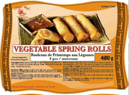 Vegetable Spring Rolls (9 pieces) - 480 grams