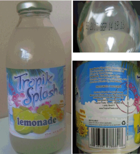 Tropik Splash brand Lemonade