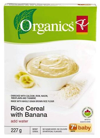 Rice Cereal with Banana (add water) 7+ baby