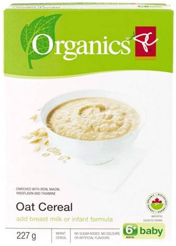 Oat cereal (add breast milk or infant formula) 6+baby