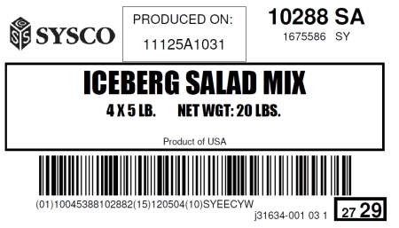 Iceberg Salad Mix