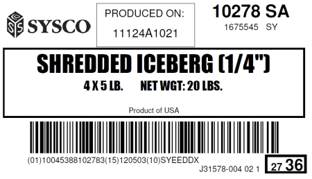 "Shredded Iceberg(1/4"")"