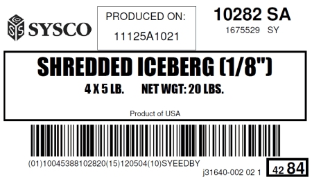"Shredded Iceberg (1/8"")"