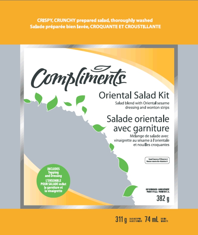 Compliments Oriental Salad Kit