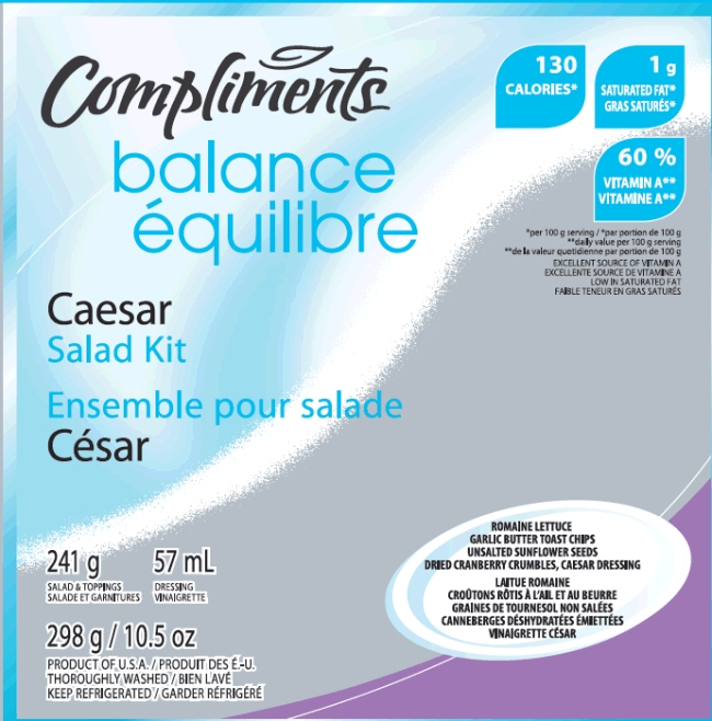 Compliments Balance Caesar Salad Kit