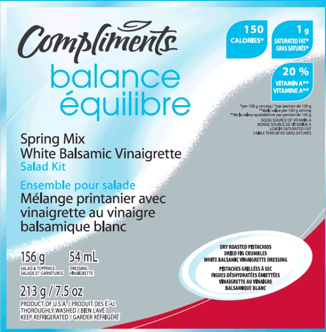 Compliments Balance Spring Mix White Balsamic Vinaigrette
