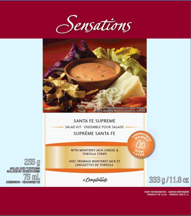 Sensations Santa Fe Supreme Salad Kit