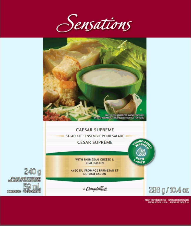 Sensations Caesar Supreme Salad Kit