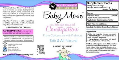 Baby Move brand Prune Concentrate