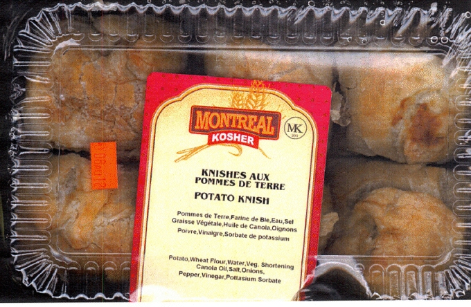 Montreal Kosher Brand Potato Knish