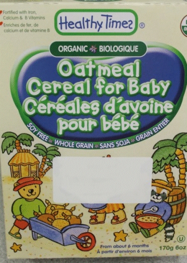 Healthy Times brand Oatmeal Cereal for Baby