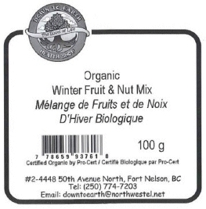 Down to Earth Health Shop - Organic Winter Fruit & Nut Mix - 100 gram